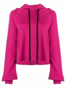 Unravel Project ripped detail hoodie - Pink