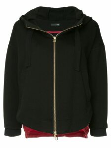 Frei Ea two-tone zipped hoodie - Black