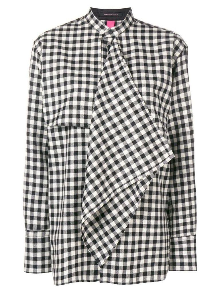 Y's gingham check shirt - Black