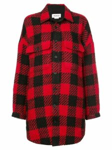 Monse checked oversized shirt - Red