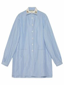 Gucci Striped oversize cotton shirt - Blue