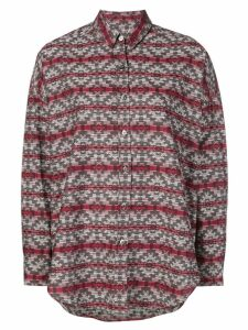 Adaptation geometric print shirt - Red