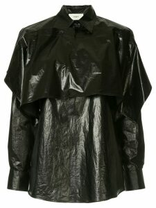 Ports 1961 sheen layered shirt - Black