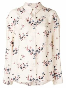 Kenzo Cheongsam Flower shirt - Neutrals