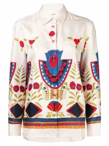 La Doublej printed new boy shirt - Neutrals