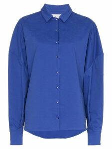 Esteban Cortazar Oversized Boxy Fit Shirt - Blue