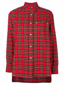 Golden Goose plaid long back shirt - Red