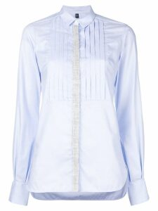 Eleventy fitted long-sleeved shirt - Blue