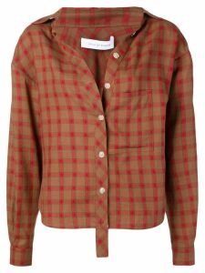 Walk Of Shame relaxed check shirt - Brown