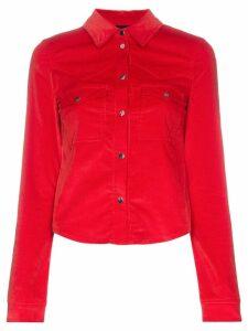 Filles A Papa Edwin Western Buttoned Cotton-Blend Shirt - Red