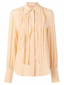Chloé pleated placket shirt - Neutrals
