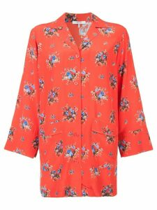 Ganni floral print shirt - Red