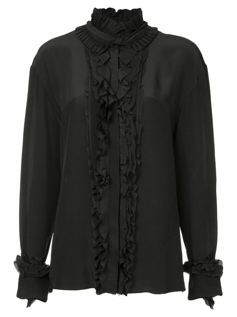 Haider Ackermann ruffle detail shirt - Black
