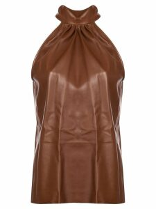 Rochas pussy bow top - Brown