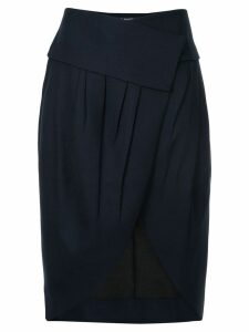 Jacquemus asymmetric pleated skirt - Black