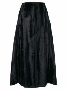 Jil Sander velvet midi skirt - Blue