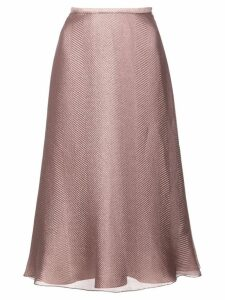Sally Lapointe A-line midi skirt - Neutrals