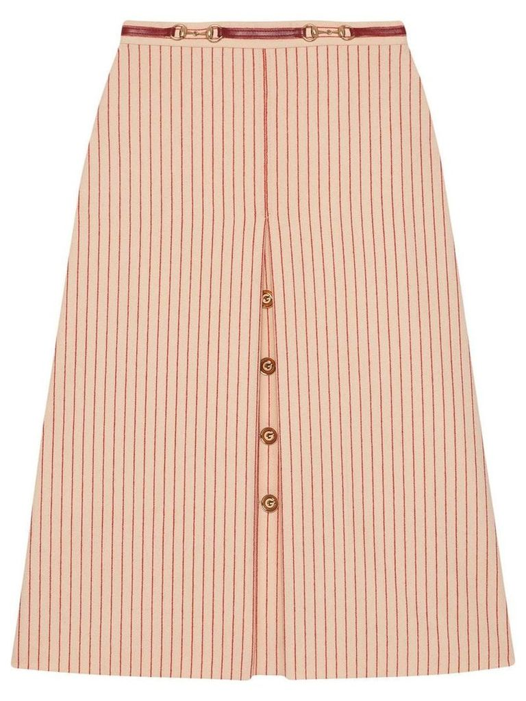 Gucci Wool skirt with GG buttons - Neutrals