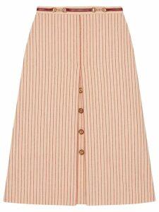 Gucci Wool skirt with GG buttons - Neutrals