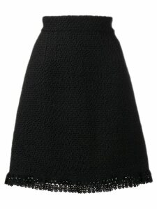 Dolce & Gabbana crochet trim skirt - Black