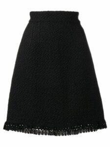 Dolce & Gabbana crochet trim skirt - Black