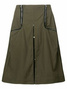 JW Anderson safari two-way zipper skirt - Green