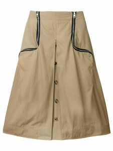 JW Anderson cumin two-way zipper skirt - Brown