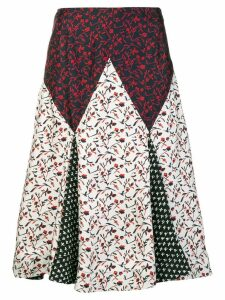 Calvin Klein 205W39nyc floral print mix skirt - White