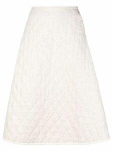 École De Curiosités A-line midi skirt - Neutrals