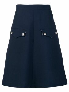 Calvin Klein 205W39nyc flap pocket A-line skirt - Blue