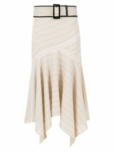 Martha Medeiros 'Martina' asymmetrical skirt - Neutrals