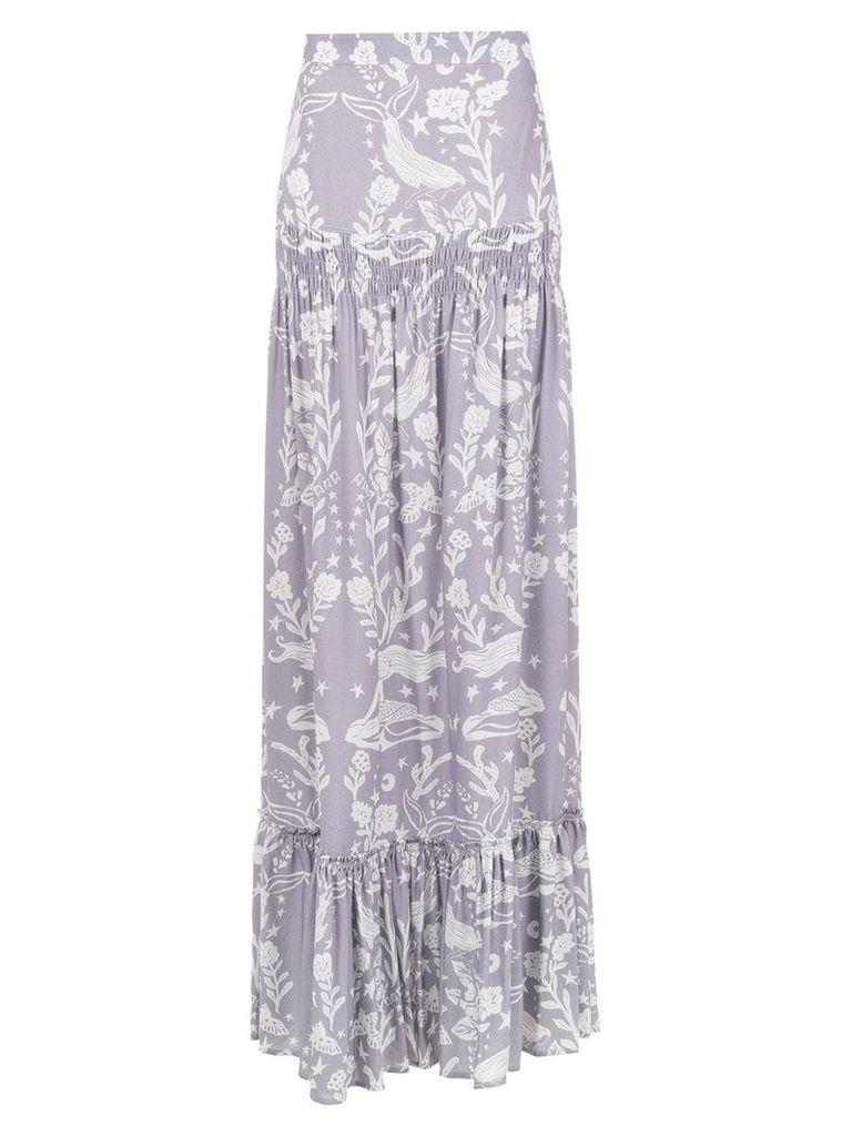 Martha Medeiros Paris printed skirt - Pink