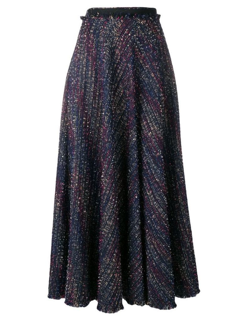 Talbot Runhof sparkle tweed skirt - Blue