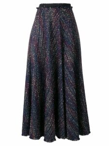 Talbot Runhof sparkle tweed skirt - Blue