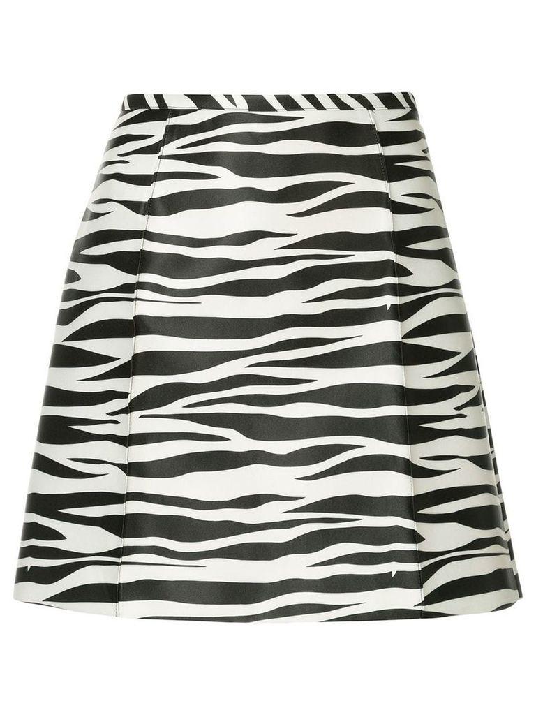 We11done zebra print a-line skirt - Black