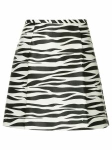 We11done zebra print a-line skirt - Black