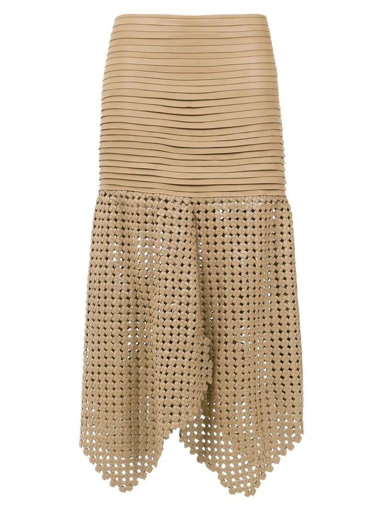 Clé 'Knots' midi skirt - Brown