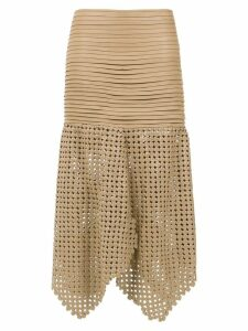 Clé 'Knots' midi skirt - Brown