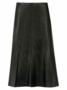 Clé pleated midi skirt - Black
