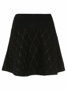 Andrea Bogosian flared knit skirt - Black