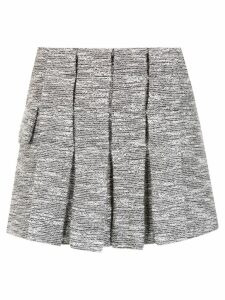 Andrea Bogosian tweed pleated skirt - Grey