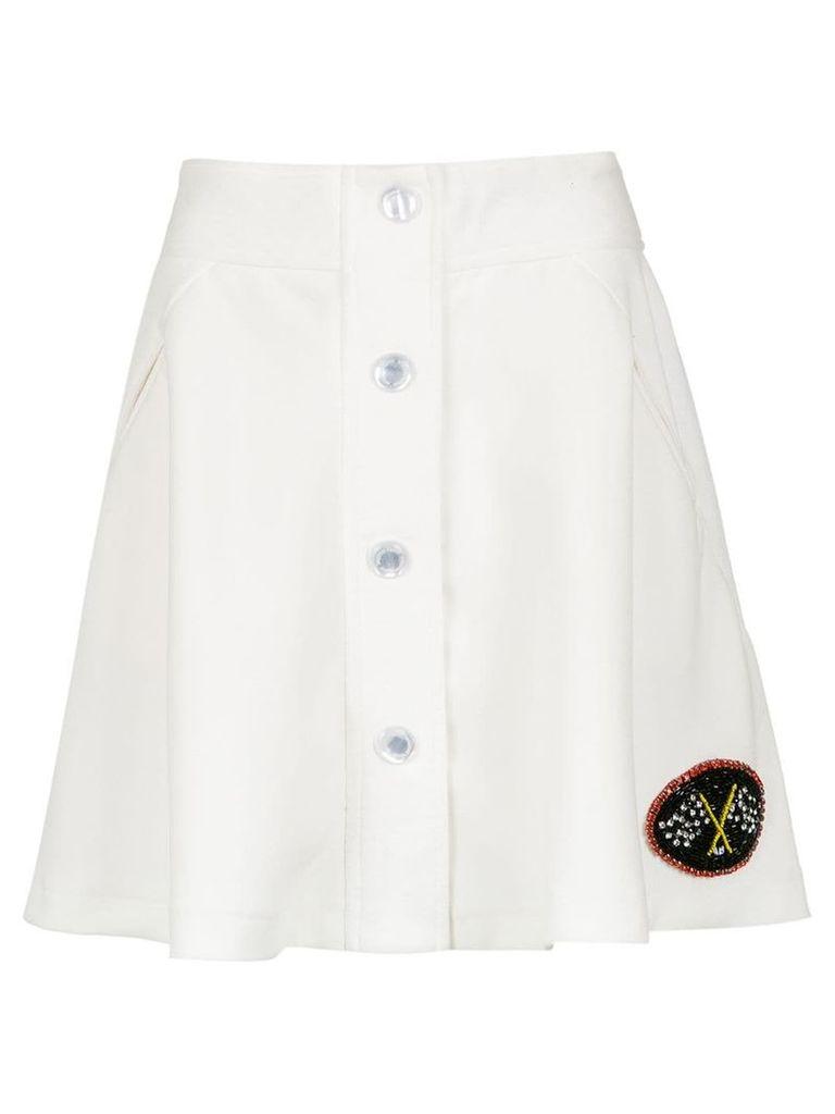 Andrea Bogosian embroidered skirt - White