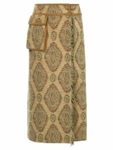 Muller Of Yoshiokubo Bodevan embroidered wrap skirt - Multicolour