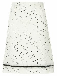 Giambattista Valli dot printed skirt - White