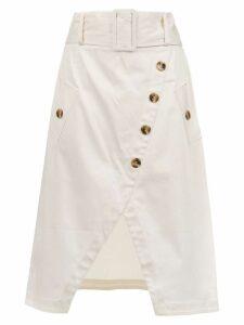 Olympiah Petri midi skirt - White