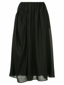 Jil Sander draped side pocket midi skirt - Black