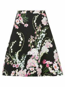 Giambattista Valli floral print skirt - Black