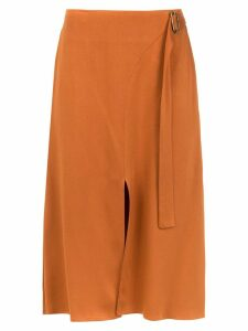 Alcaçuz Famoso flared skirt - Brown