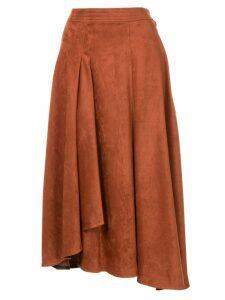 Frei Ea high-waisted flared skirt - Brown