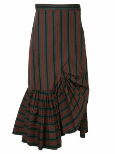 Rosetta Getty striped asymmetric skirt - Multicolour